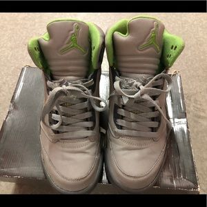 "Jordan Shoes - 2006 Jordan V ""Green Bean"" sz. 8.5"